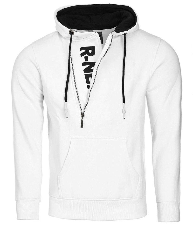 Musta Huuhkajat-huppari valkoisella logolla