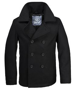 Dudley Pea Coat Black