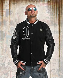 Cross Bones College Jacket Black