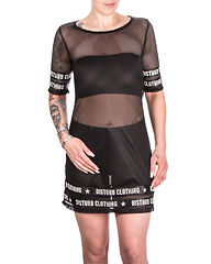 DSTRB Mesh Dress Black