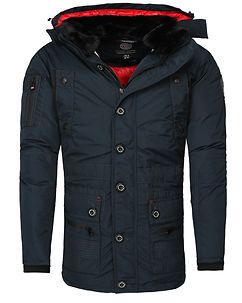 Calcul Parka Jacket Navy