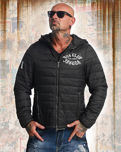 Gun Club Quilted Jacket Black