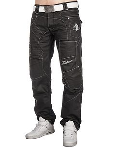 KM-120 Jeans Black