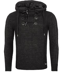 Clement Knit Hoodie Black