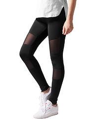 Tech Mesh Leggings Black