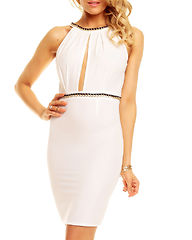 Leigh Dress White