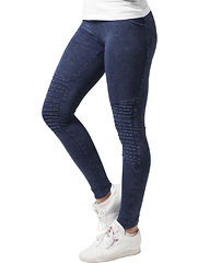 Denim Jersey Leggings Indigo
