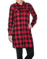 Checked Flanell Shirt Dress