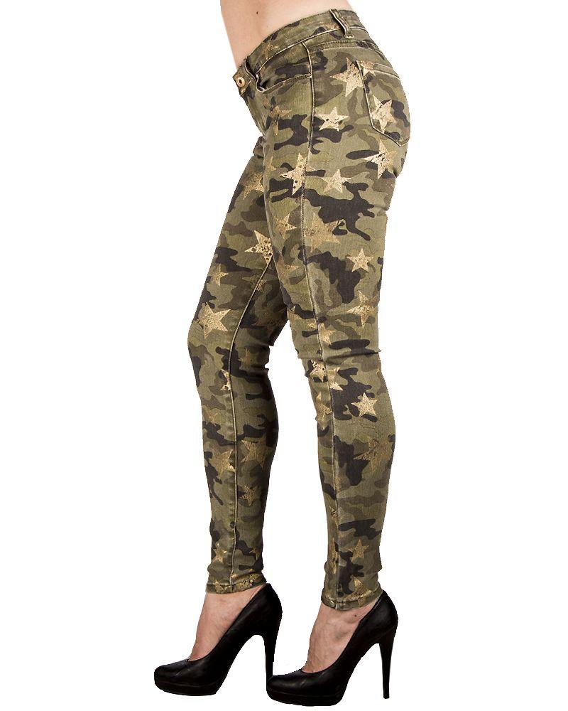 Audrey Jeans Green Camo - Jeans   Trousers - Disturb Scandinavia Oy 5bf431c9cf