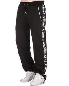 Awefuckingsome Sweat Pants Black