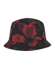 Roses Bucket Hat Black/Red