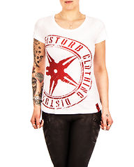 Throwing Star Women Tee White
