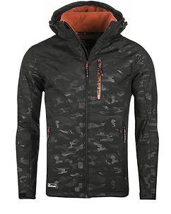 Incognito Softshell Jacket Black Camo