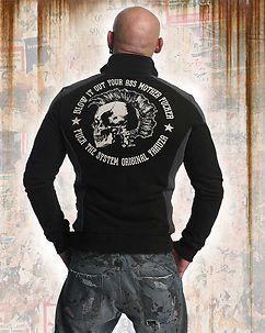 Punx Two Face Zip Sweater Black