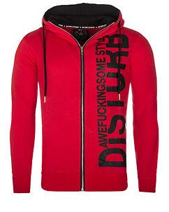 Disturb Hoodie Red/Black