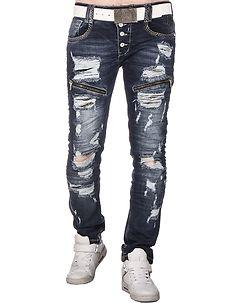 Nanga Jeans Ripped Denim Blue