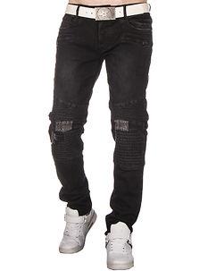 Edvin Biker Jeans Charcoal