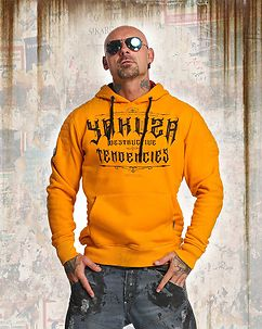 Destructive Tendencies Hoodie Orange