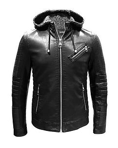 Marcius Leather Jacket Black