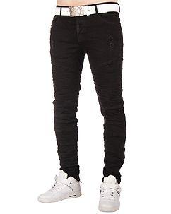 Wrunk Biker Jeans Black