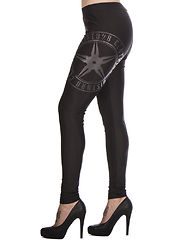 Throwing Star Leggings Black