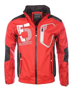Calife Windbreaker Jacket Red/Black
