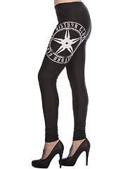 Throwing Star Leggings Black/White