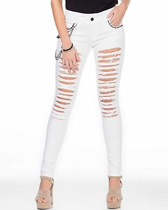 Allegra Ripped Jeans White